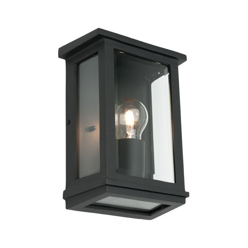 Madrid Small Box Black Frame Exterior Wall Light