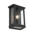Madrid Small Bronze Box Frame Exterior Wall Light