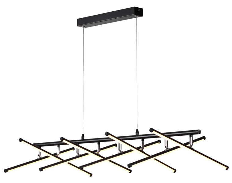 Metrix 8 Light Multi Bar Linear LED Pendant