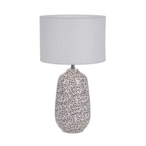 Miren Large White and Red Flower Base Table Lamp