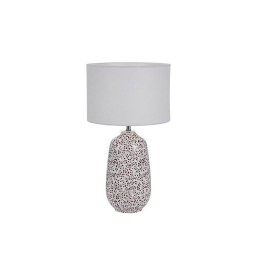 Miren Small White and Red Flower Base Table Lamp
