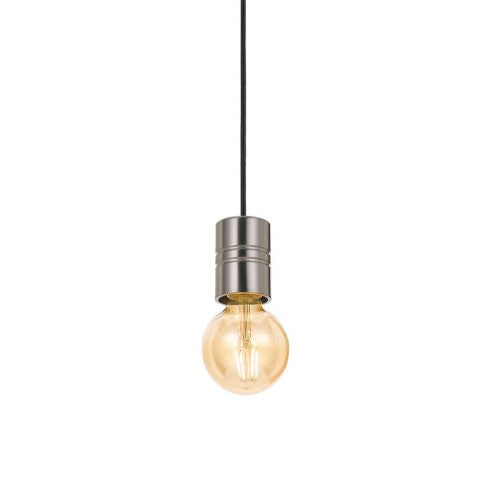 Lang Nickel with Black Fabric Cord Pendant Set
