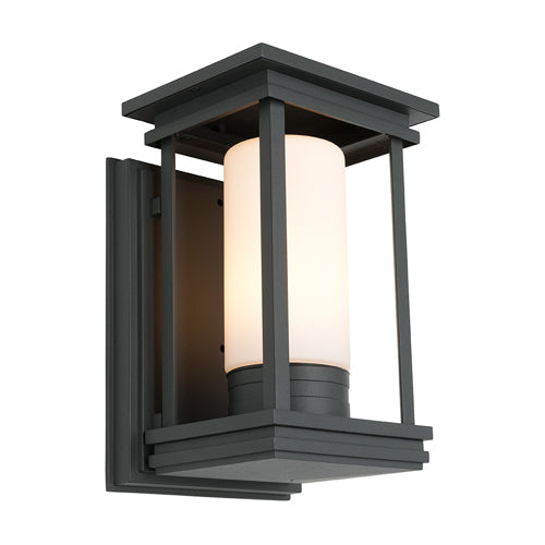 Norfolk Black Frame Exterior Wall Light