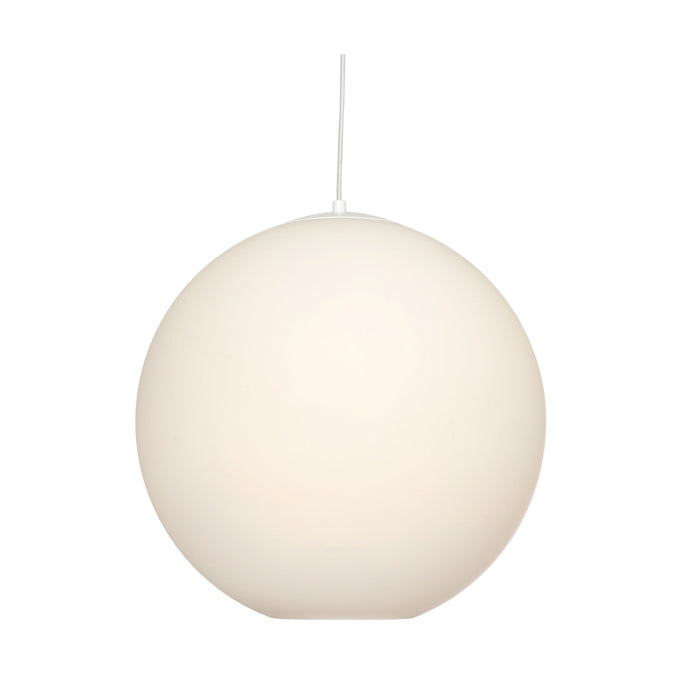 Orpheus 3 Light White with Frost Glass Sphere Pendant