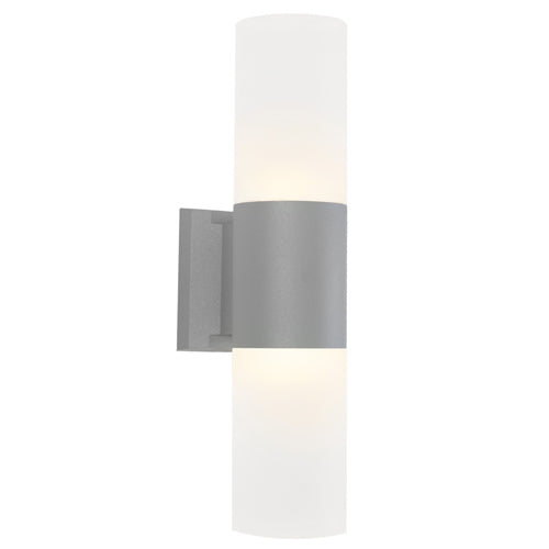 Ottawa Up and Down Silver Architectural Exterior Wall Light