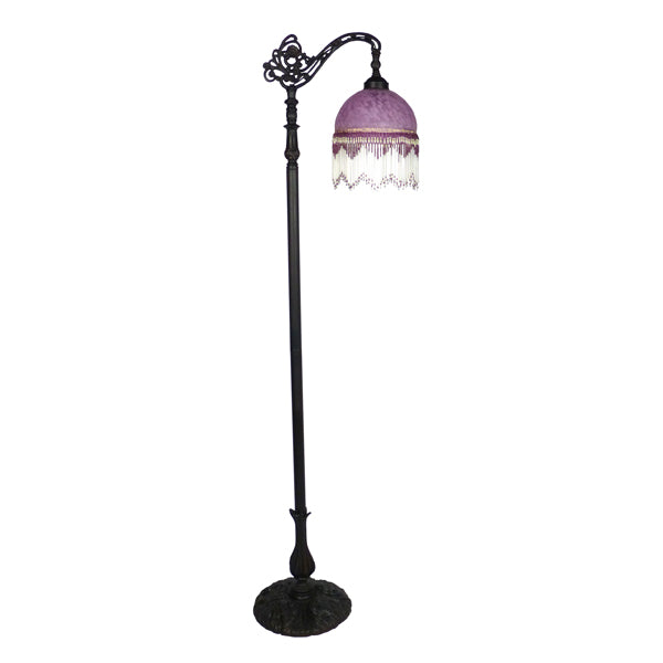 Victoria Purple Beaded Floor Lamp