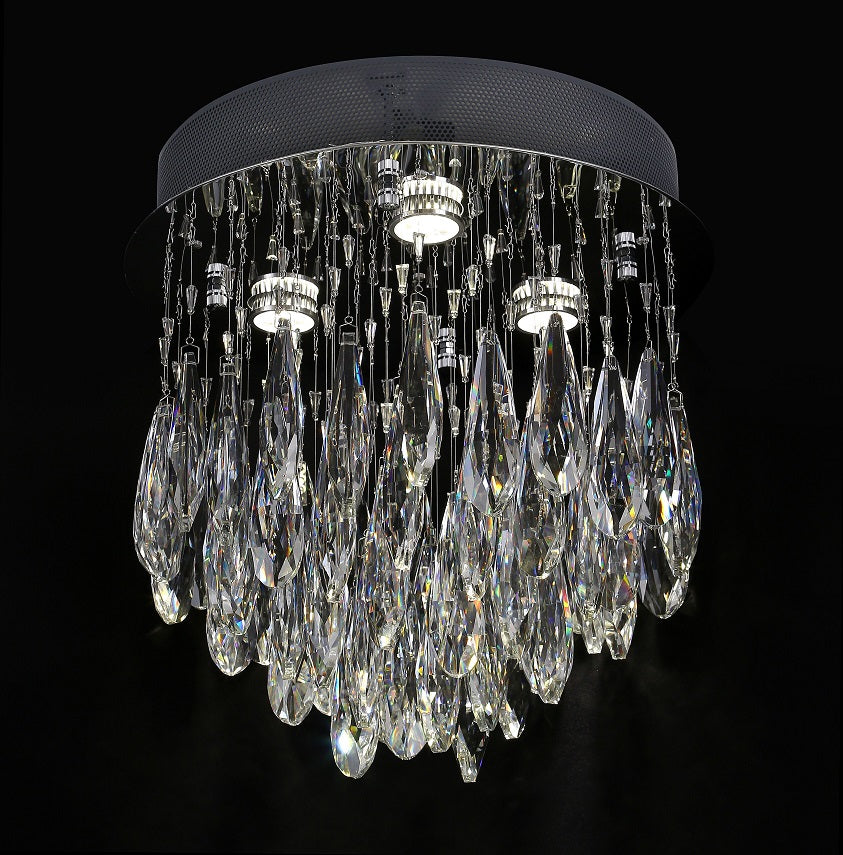 Raindrops 400mm Cascade Crystal Ceiling Fixture by Amond