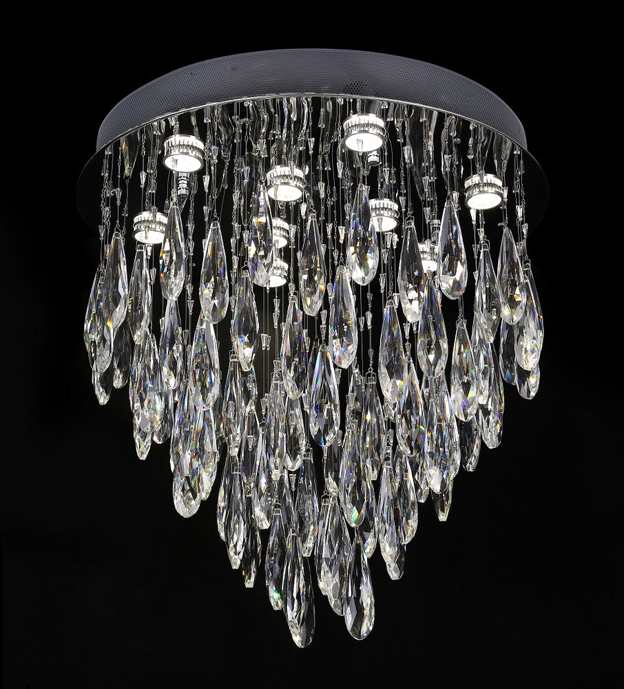 Raindrops 600mm Cascade Crystal Ceiling Fixture by Amond