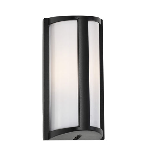 Regina Black Trapezoid Bunker Exterior Wall Light
