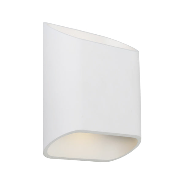 Sarina White Contemporary Up/Down LED Exterior Wall Light