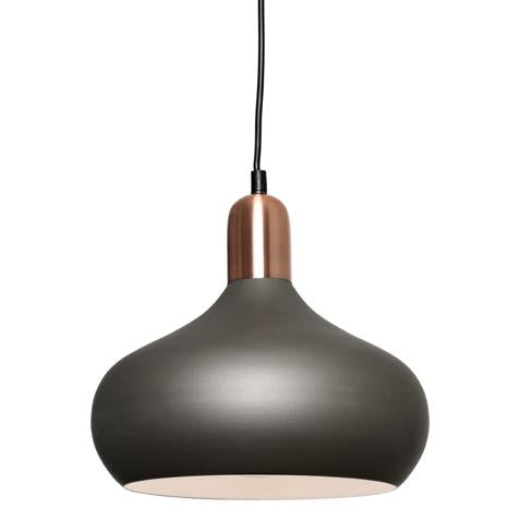 Sloan 1 Light Charcoal and Copper Pendant