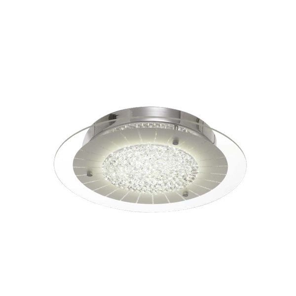 Sophia Round Crystal and Glass Plate Oyster