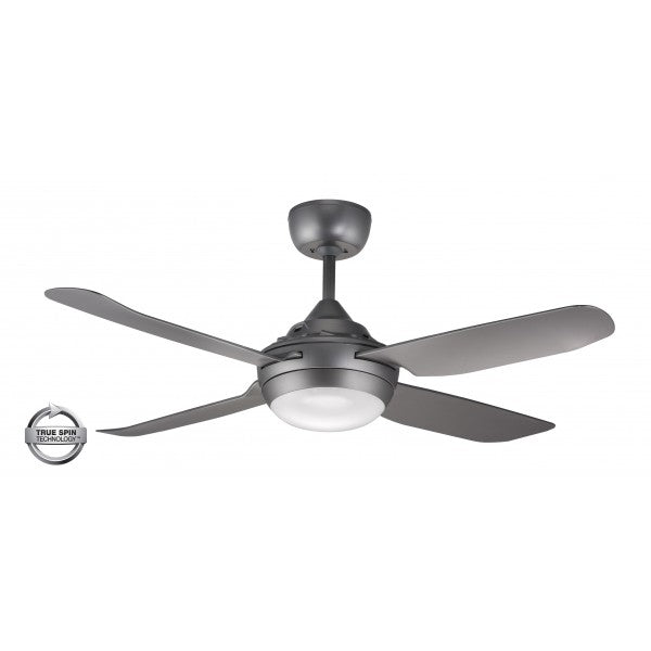 "Spinika 48"" LED Titanium ABS Plastic 122cm AC Motor Ceiling Fan with Light By Ventair"