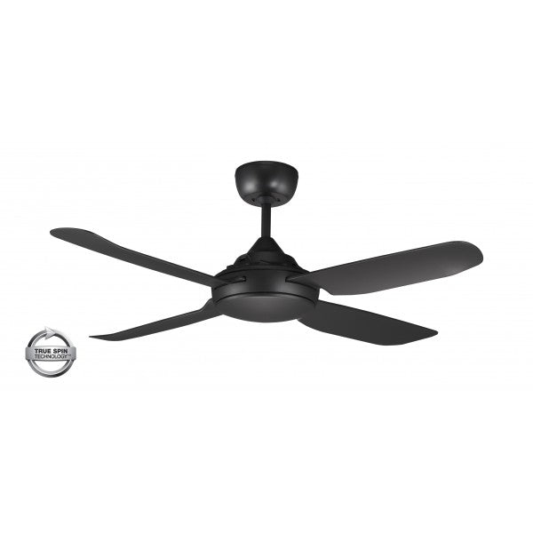 "Spinika 52"" Black ABS Plastic 132cm AC Motor Ceiling Fan By Ventair"