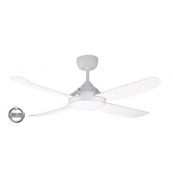"Spinika 52"" White ABS Plastic 132cm AC Motor Ceiling Fan By Ventair"