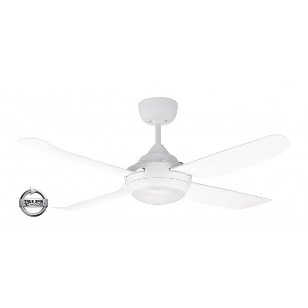 "Spinika 52"" LED White ABS Plastic 132cm AC Motor Ceiling Fan with Light By Ventair"