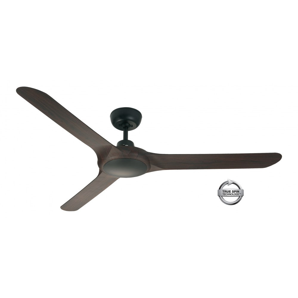 Spyda 1423mm Walnut 3-Blade ABS Plastic Ceiling Fan By Ventair
