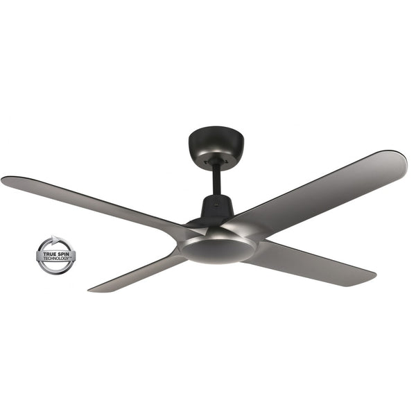 "Spyda 56"" 4-Blade Titanium 1400mm ABS Plastic Ceiling Fan by Ventair"