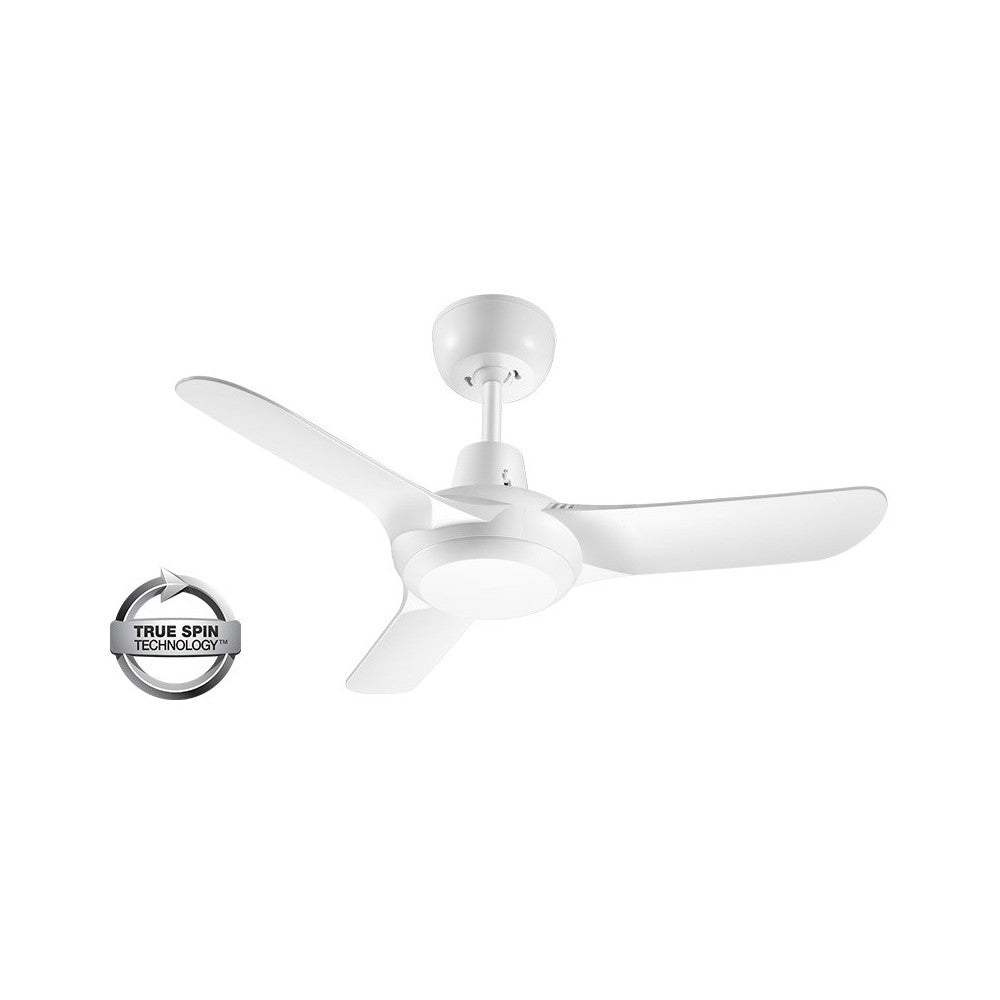 Spyda 903mm White 3-Blade ABS Plastic Ceiling Fan