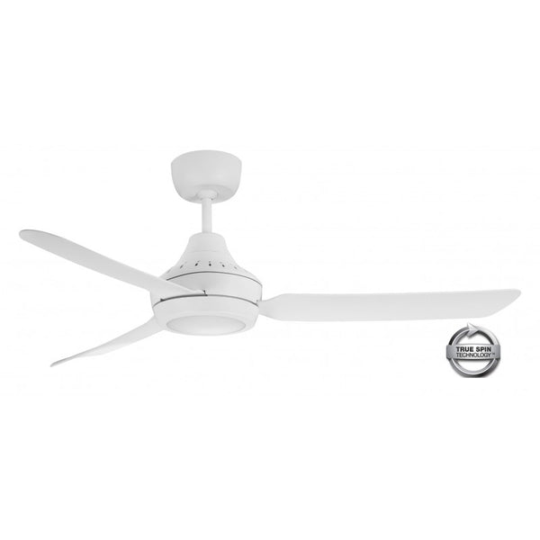 "Stanza 56""/1400mm White with LED Light 3 Blade AC Ceiling Fan"