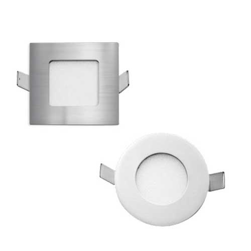 Stow Silver Round-850 Recessed LED Stair Fixture