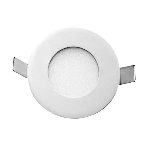 Stow White Round-830 Recessed LED Stair Fixture