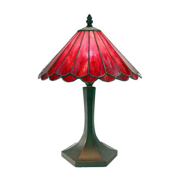 "Jessie 10"" Red Tiffany Table Lamp"