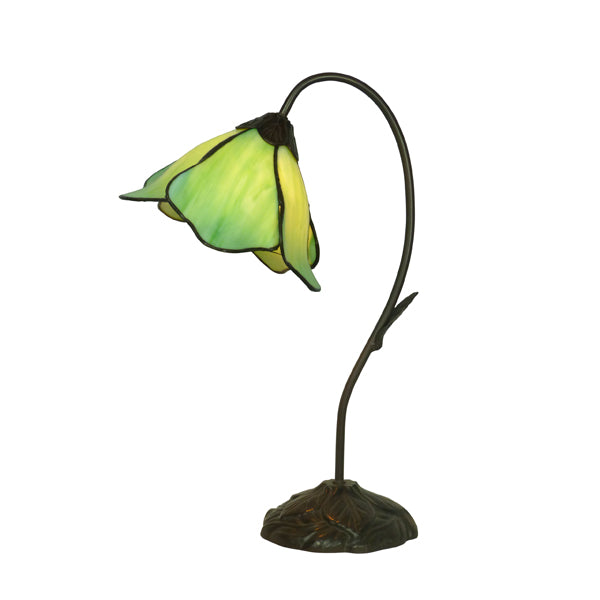 Tiffany Single Green Lotus Table Lamp