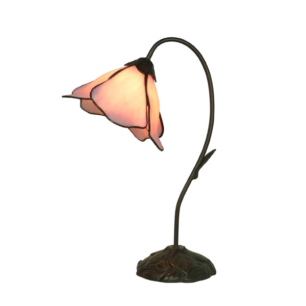 Tiffany Single Pink Lotus Table Lamp