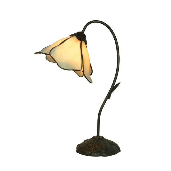 Tiffany Single Beige Lotus Table Lamp