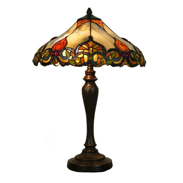 "Rhulemann 16"" Blue Swirl Tiffany Table Lamp"