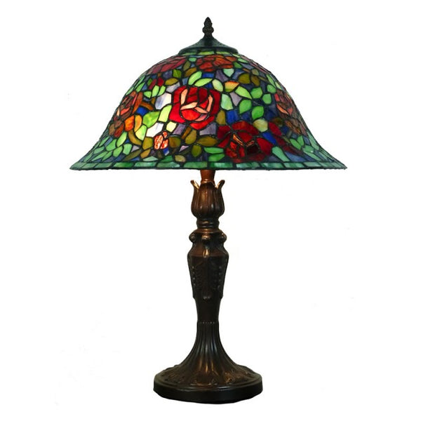 Tiffany Red Floral Table Lamp TLA-161623