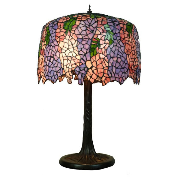 "Wisteria Pink/Purple 18"" Tiffany Table Lamp"