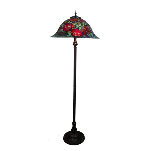 Tiffany Red Floral Floor Lamp TLA-221623