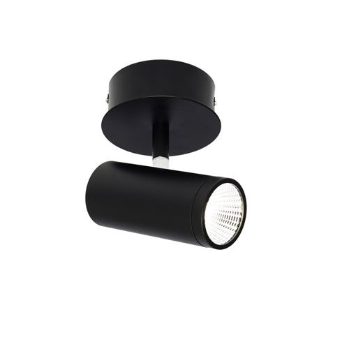 Urban 1 Light Black Architectural Slim LED Spotlight