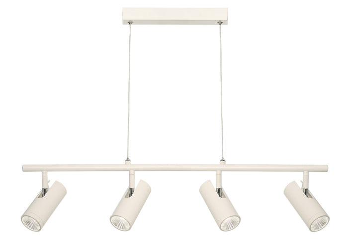 Urban 4 Light White Architectural Slim LED Pendant
