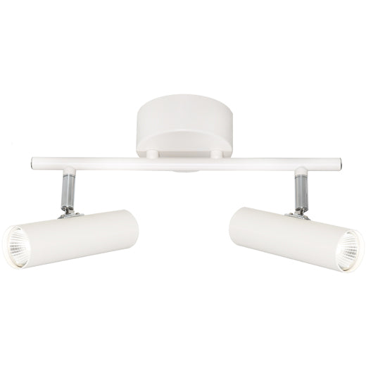 Vector 2 Light Bar White Round Architectural Slim LED Spotlight