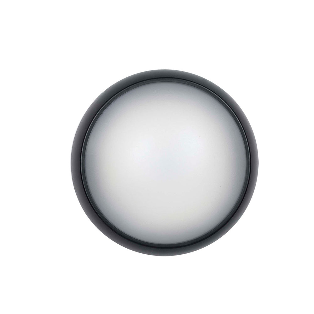 Wynn Black Round LED Bunker Light