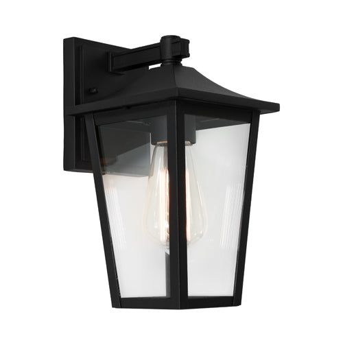 York Black Tapered Lantern Exterior Coach Wall Light