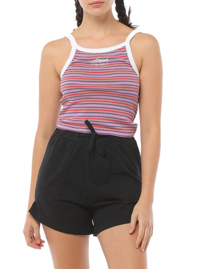 Stussy Women Birch stripe Tank Purple