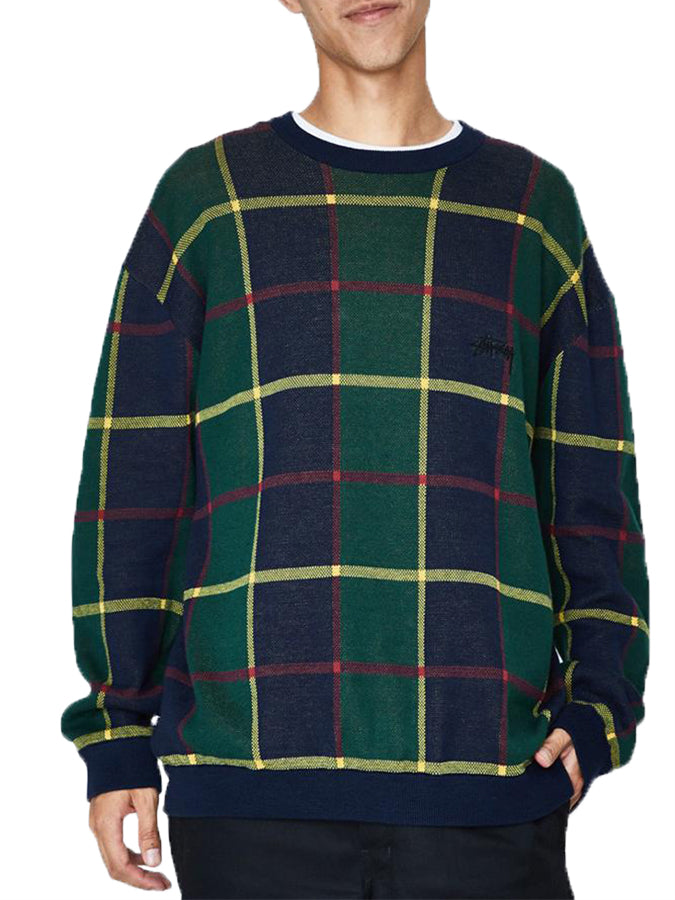 Stussy Moore Jumper Check Green