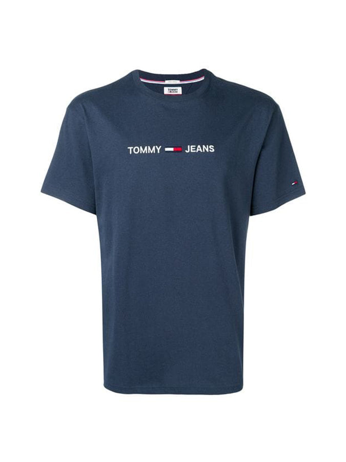 Tommy Jeans logo T-Shirt Navy