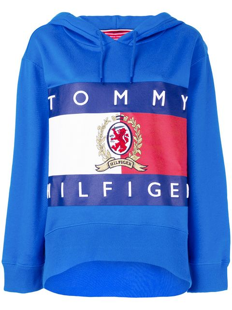 Tommy Hilfiger women Cropped Hoodie Blue
