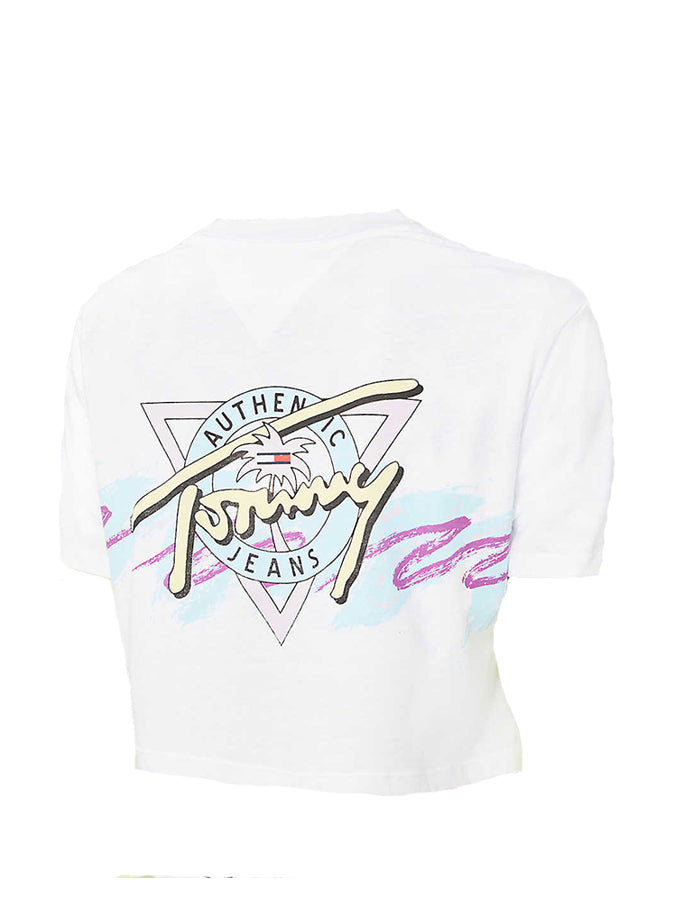 Tommy Jeans women summer front back print T-Shirt White