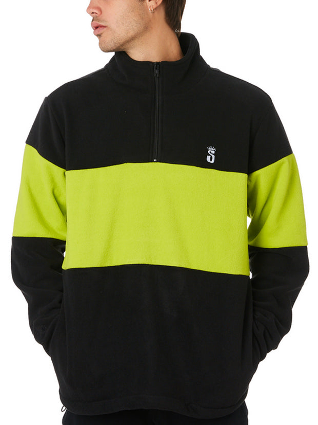 Stussy Crown Polar Fleece Sweatshirt Black/Light Green