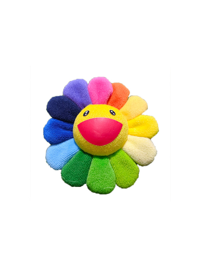 村上隆 Takashi Murakami Flower Plush Pin Rainbow/Yellow