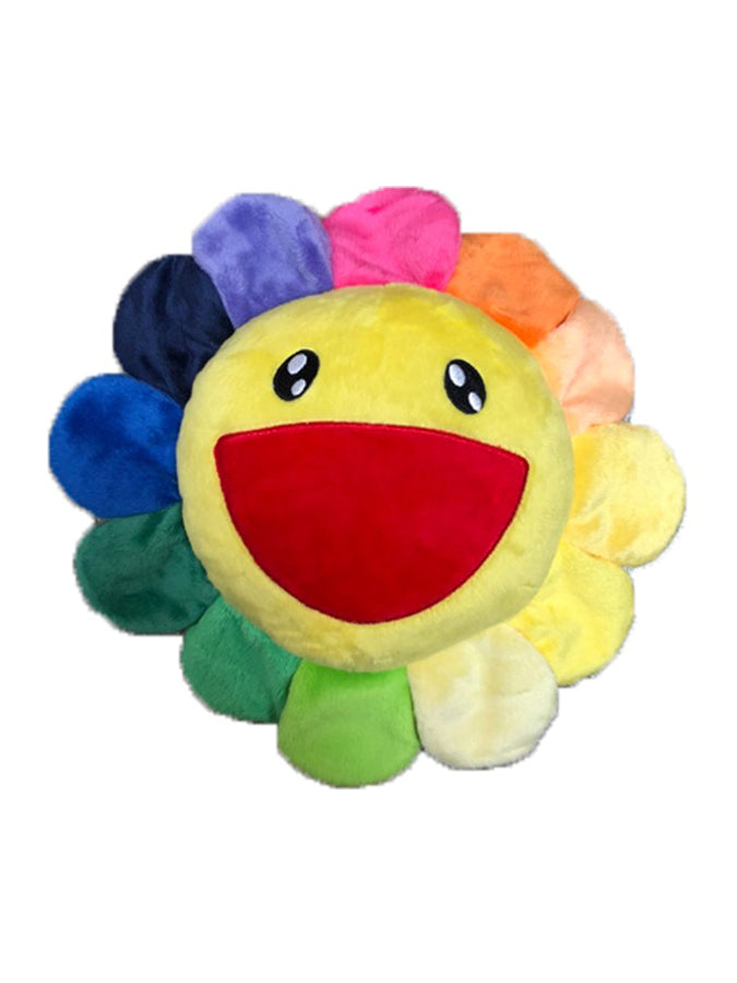 村上隆 Takashi Murakami Frazzle Flower Plush Rainbow/Yellow