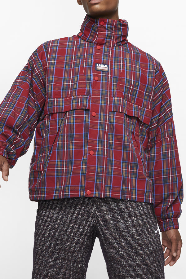 Nike checker Breaker Jacket Red