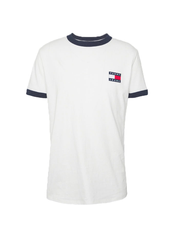 Tommy Jeans branded ringer T-Shirt White
