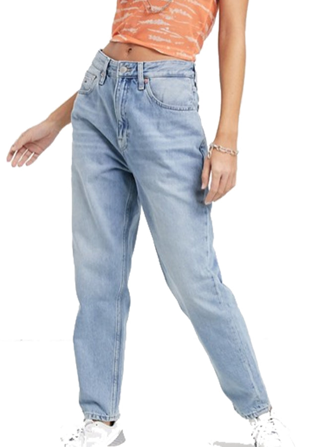 Tommy Jeans women high waist mom Jean Light Blue